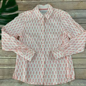 Foxcroft pineapple shaped fit wrinkle free shirt